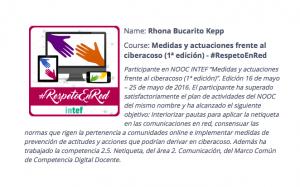 Insignia Respeto en Red Rhona Bucarito